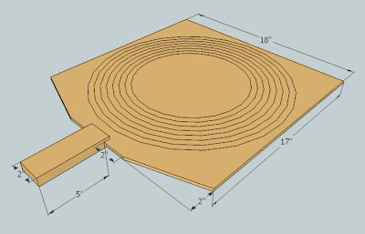 how to draw a circular trapezoid in sketchup