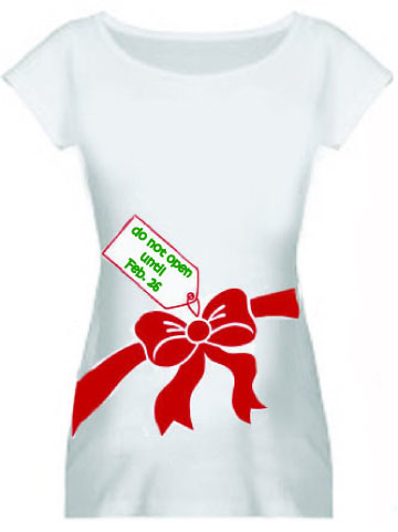 i will be sporting so i am thinking it may cause for some ironicwonderfully tacky maternity t shirts worn under a red or green sweater of course - Christmas Maternity Shirts