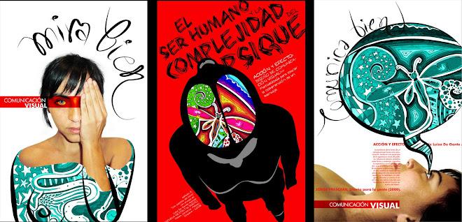 3 carteles para exposición de comunicación visual