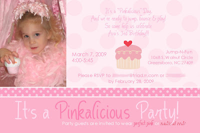 Cutie Pies Custom Creations Pinkalicious Themed Birthday Party – Pinkalicious Birthday Invitations