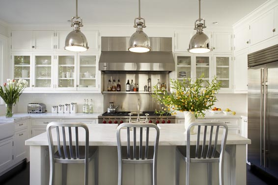 Dreaming of a white kitchen honey we 39 re home - Industrial lighting fixtures for kitchen ...