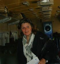 En el tren con 22 alumnos y compañeros.