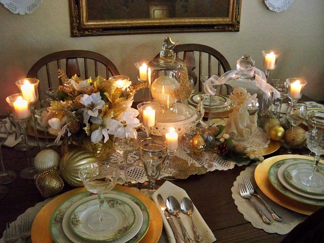 adding candlelight to a tablescape