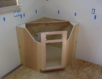 ken 39 s abode corner sink cabinet. Black Bedroom Furniture Sets. Home Design Ideas