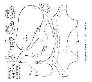 Moldes - Sapatinhos de Tecido - 2