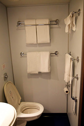 Stuff from 119: Pictures of the bathroom in our stateroom ...