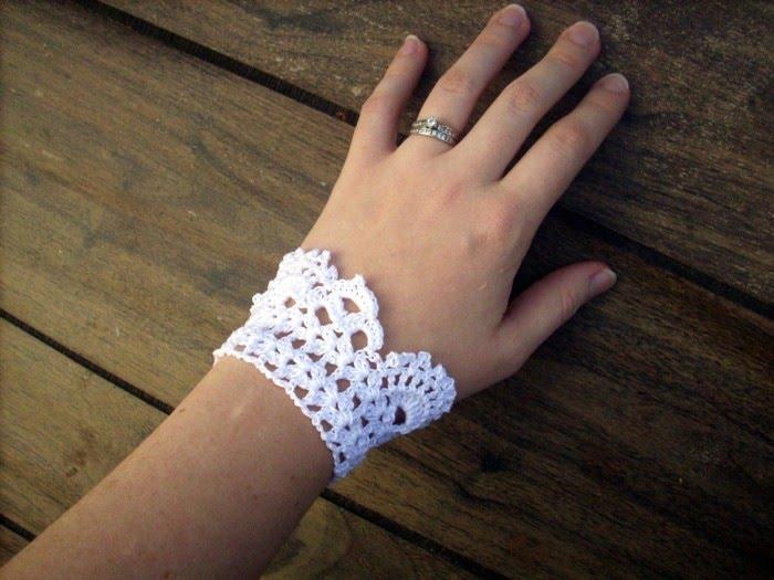 cuff bracelet template. White Lace Cuff Bracelet