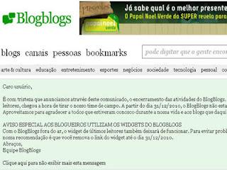 Blogblogs encerra suas atividades