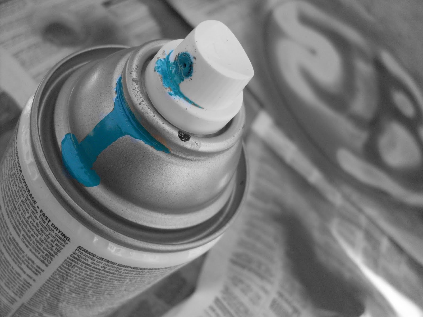 98 days 100 posts day 2 toxic paint fumes Paint with spray can