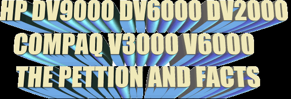 HP DV2000 DV6000 DV9000 AND COMPAQ V3000 V6000