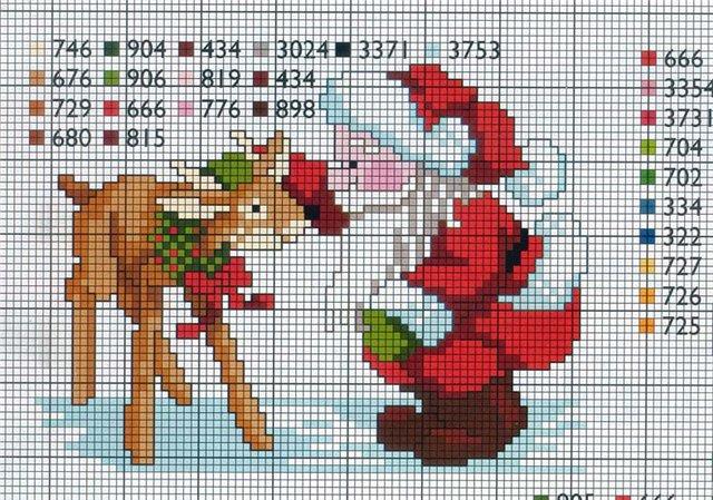 Схемы вышивки новогодних открыток.  Вышивка: Вышивка крестом, вышивка.