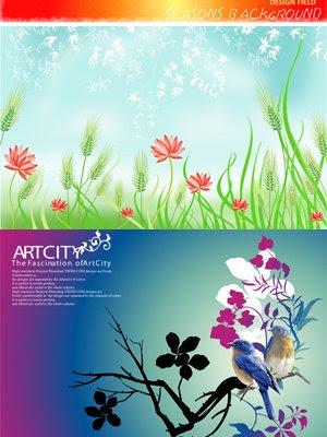 ArtCity Seasons Background