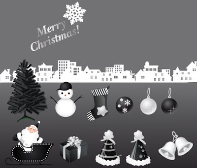 Vector Christmas Black & Silver