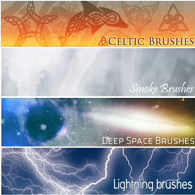 4 Amazing Photoshop Brushes Set.2