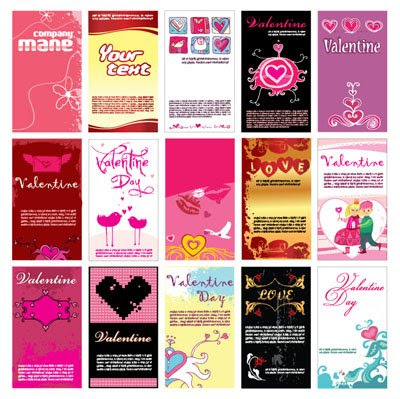 Valentines day cards templates