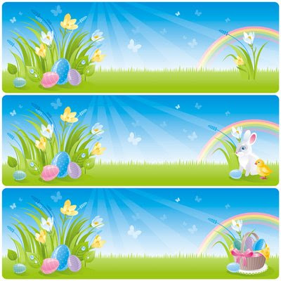 Spring easter vectors