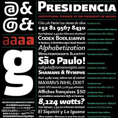 Presidencia Fonts Pack