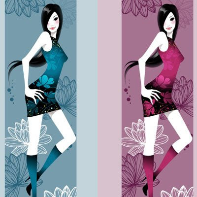 Download AsianGirl Vertical Vector Banner