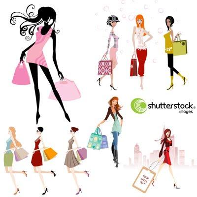 Download Shopping Girls Vector
