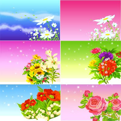 Download Flowers Background Vector