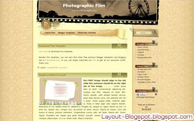 Download Photographic Film Template