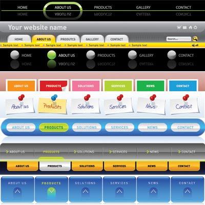Download Web Elements Vector
