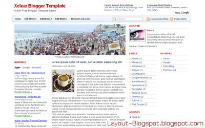 Download Xclear Blogger Template
