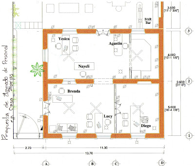 Casa abejas propuesta de distribucion para oficina for Distribucion de oficinas