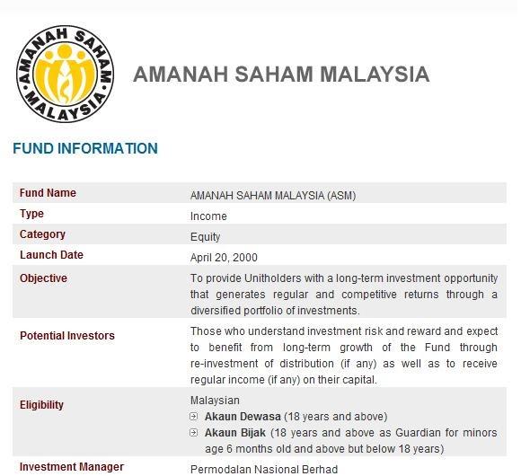 amanah saham malaysia Pelaburan mara berhad (pmb) formerly known as amanah saham mara berhad (asmb) was incorporated on 24 june 1967 is a wholly-owned subsidiary of majlis amanah rakyat (mara).