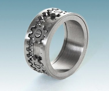 Celebrate Beautifully Unique Groom S Wedding Gear Ring