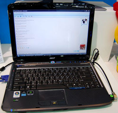 Acer Aspire 4930G by Vincent Chang from Computex 2008