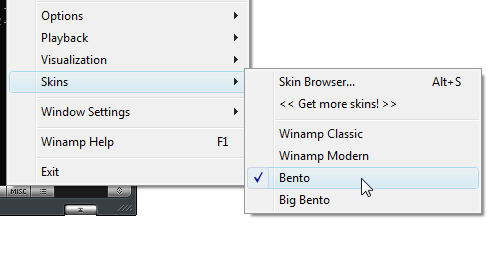 Change Winamp Skin