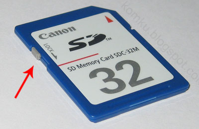 Canon SD Card unlocked