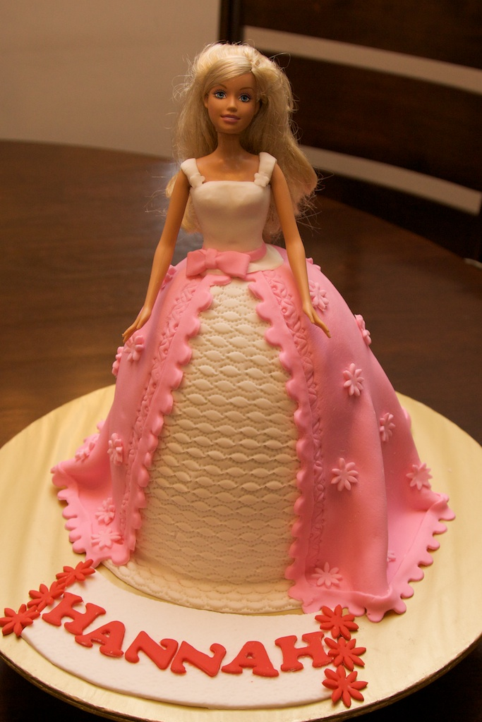 Pink Oven Cakes and Cookies: Fondant Barbie Doll Cake