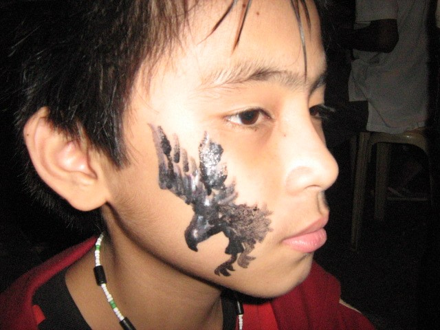 [tattoo.face+paint+eagle]