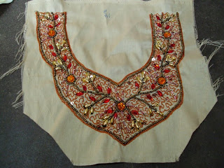 Aari Work Saree, Zardozi Fashion Work with Hand Embroidery