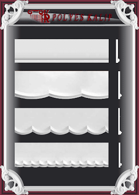 p1 Kartonpiyer kalıbı alçı perdelik kalıbı desenli düz sade  modeller