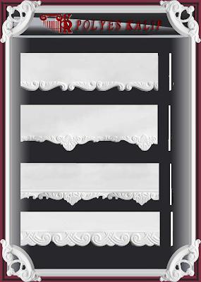 p2 Kartonpiyer kalıbı alçı perdelik kalıbı desenli düz sade  modeller