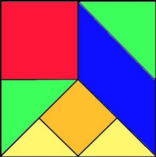 ... este tangram hemos seguido los mismos pasos que para el tangram chino