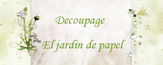 Decoupage   El jardin de papel