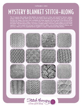 Stitch Therapy Knit Along Heres A Clue Mystery Blanket Stitch Along