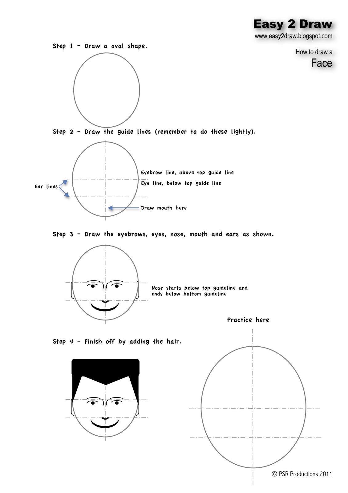 How To Draw A Face Guide Solution For How To For Dummies How To Draw A