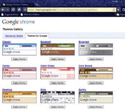 Chrome için kendi temanızı seçin