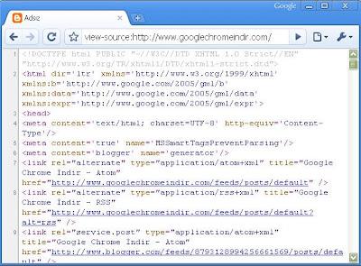 Google Chrome Site Kaynağı