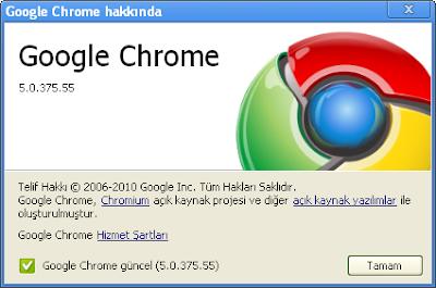 Google Chrome 5.0.375.55