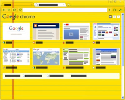 Google Chrome Legal Pad Tema