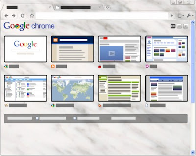Google Chrome Marble Tema