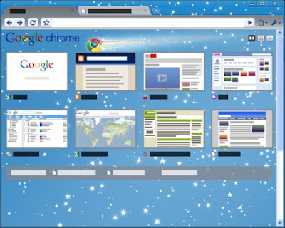 Google Chrome Star Gazing Tema