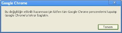 Google chrome güncel sürüm yükseltme