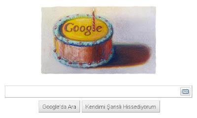 Google 12. Yaş Günü Logosu - 27 Eylül 2010